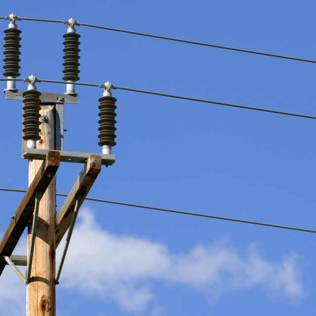 """""""Power Lines And Transformer"""" stock image"""