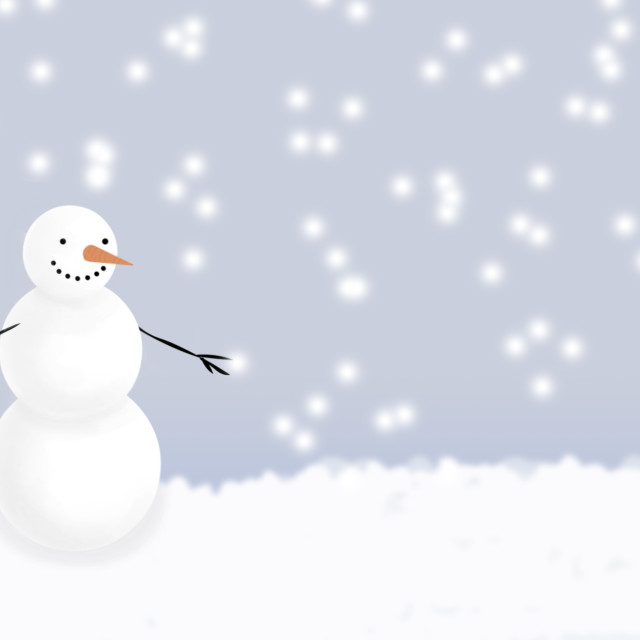 """""""Snowman In Winter"""" stock image"""
