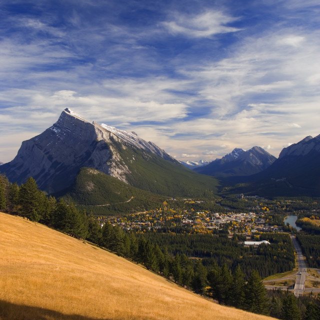 """""""Banff And Mount Rundle In Alberta, Canada"""" stock image"""