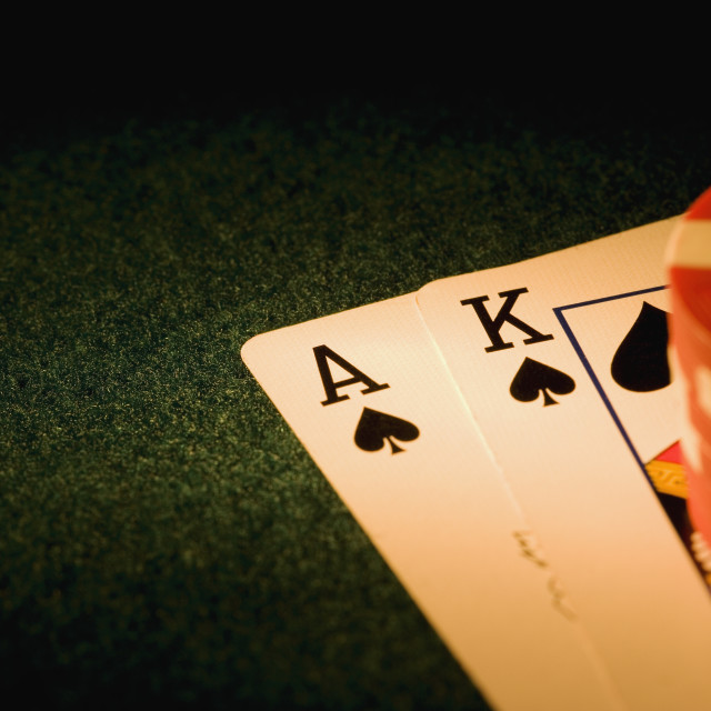 """Blackjack Hand"" stock image"