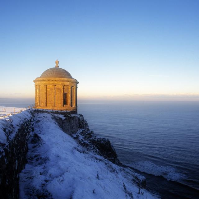 """Mussenden Temple In Northern Ireland"" stock image"