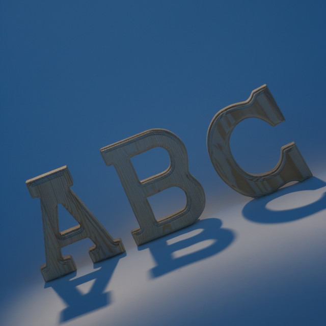 """Abc Letters"" stock image"