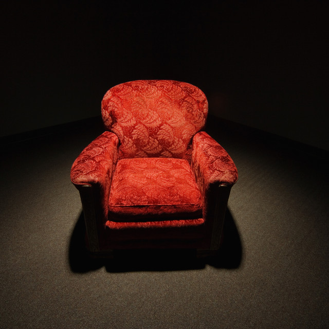 """Red Armchair"" stock image"