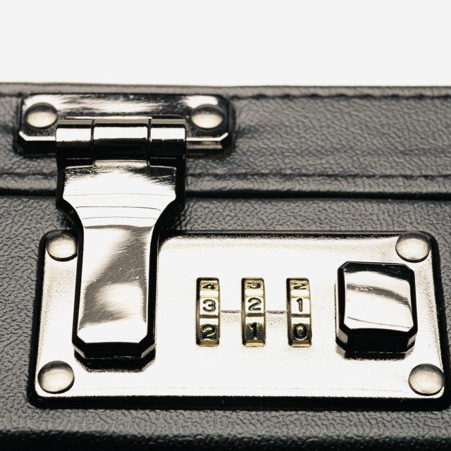 """""""Combination Lock On A Briefcase"""" stock image"""
