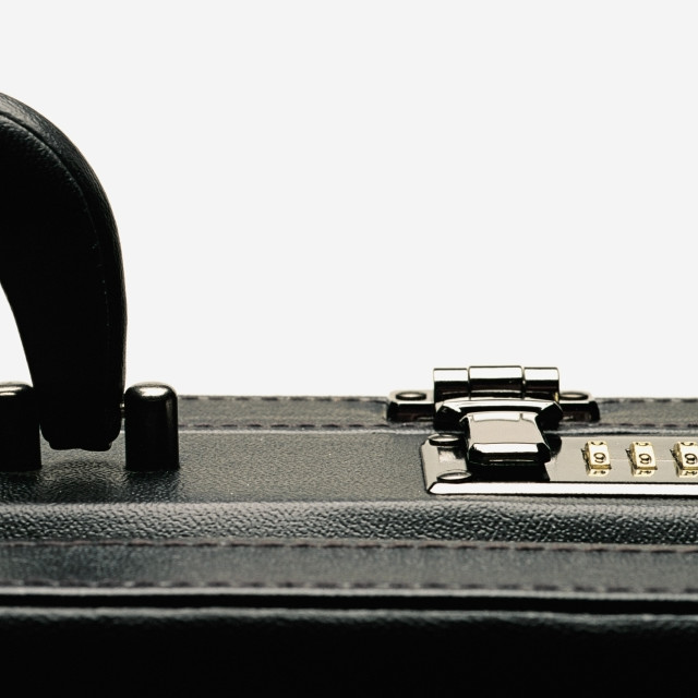 """""""Briefcase With Combination Lock"""" stock image"""