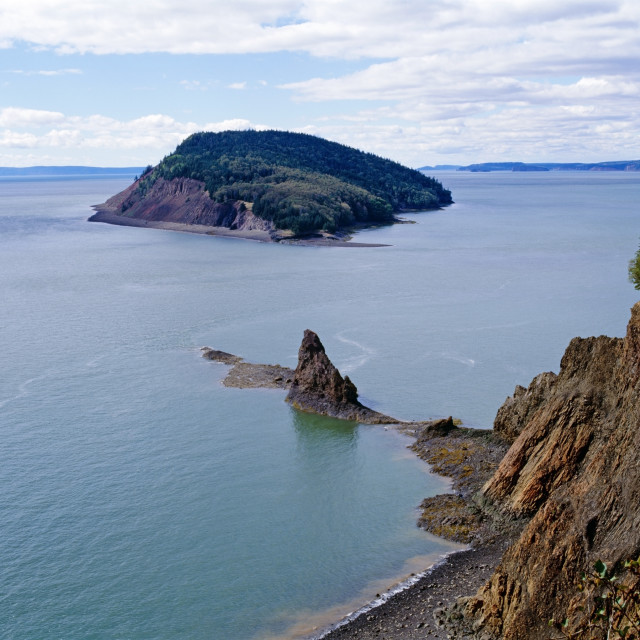 """Shore Of The Bay Of Fundy"" stock image"