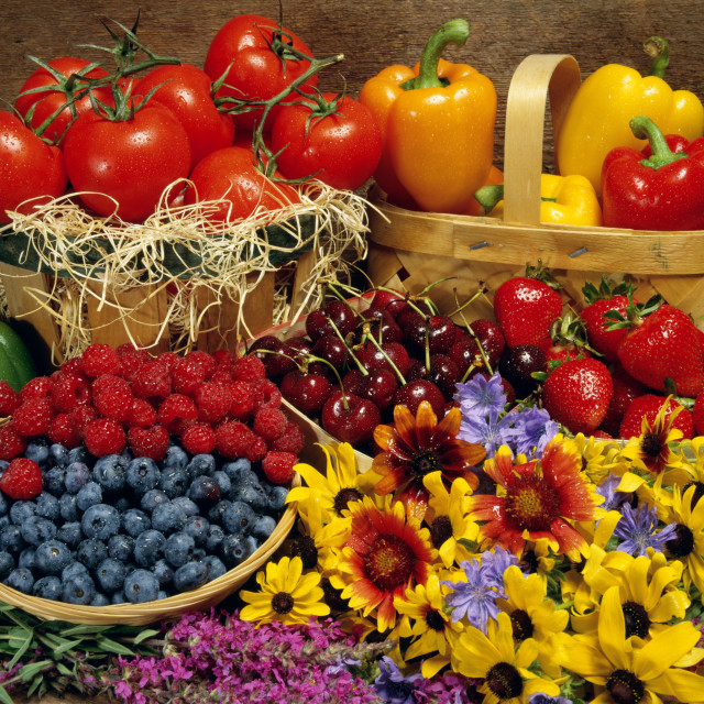 """""""Fruits And Vegetables"""" stock image"""