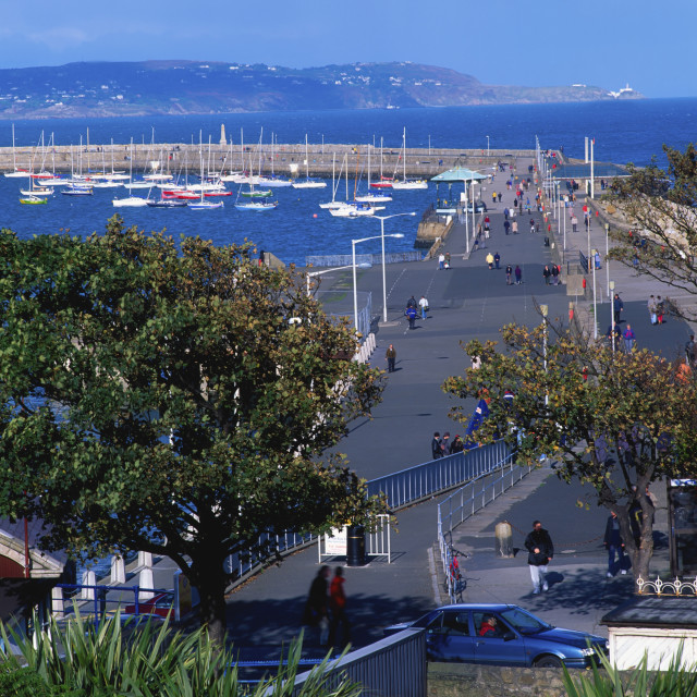 """""""View To Howth Head From Dun Laoghaire, Dublin, Ireland"""" stock image"""
