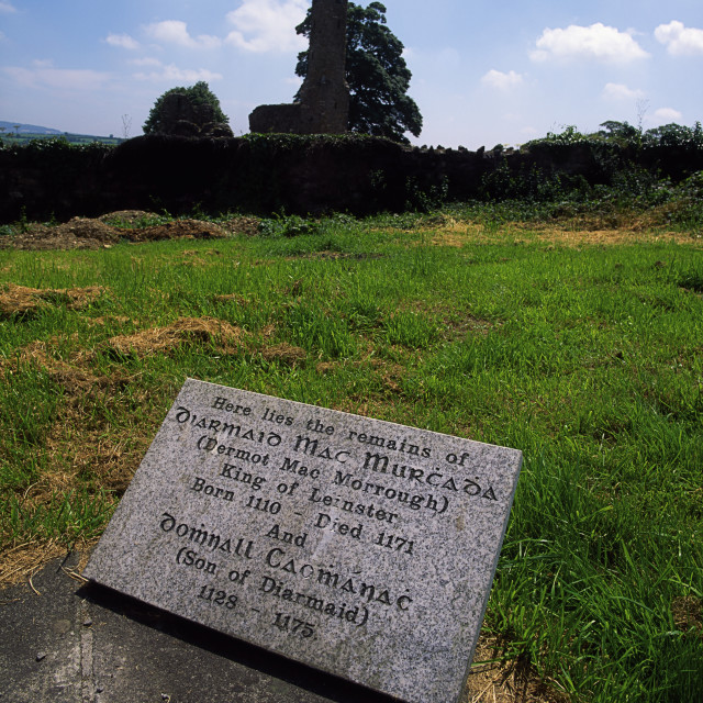 """Ferns, County Wexford, Ireland, Grave Of Dermot Mc Murrough"" stock image"