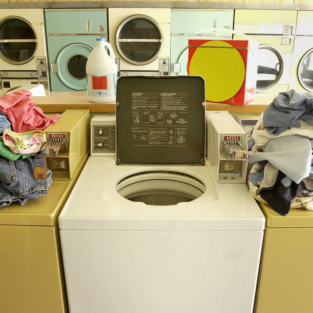 """""""Busy Laundromat"""" stock image"""