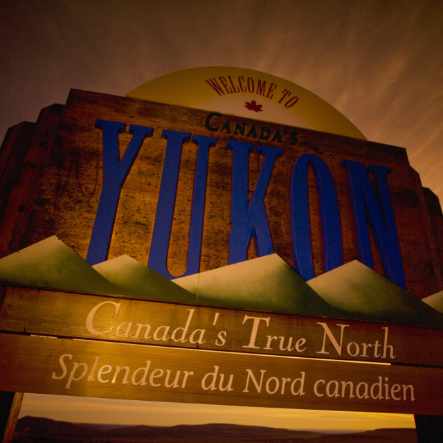 """Yukon Sign"" stock image"