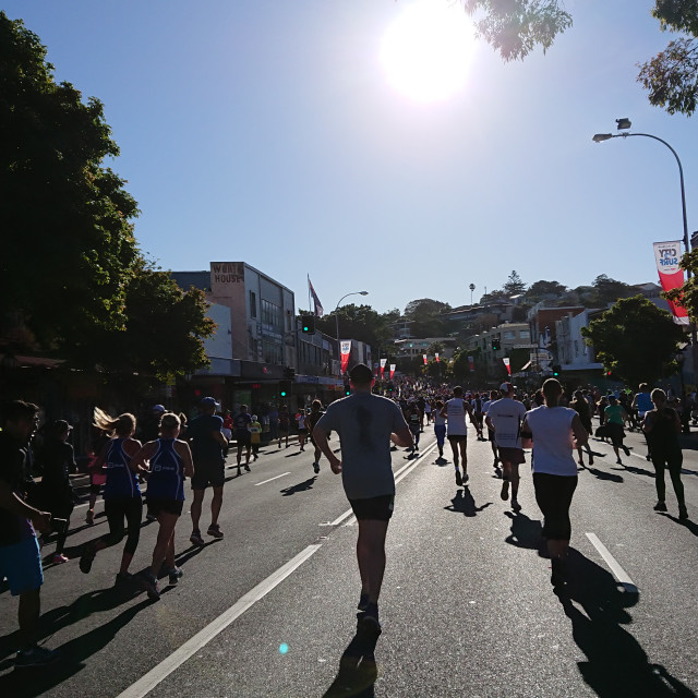 """City2Surf 2017"" stock image"