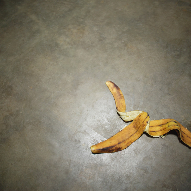 """Banana Peel On Floor"" stock image"