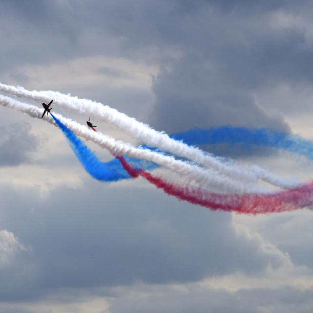 """RAF Red Arrows 'Hurricane'"" stock image"