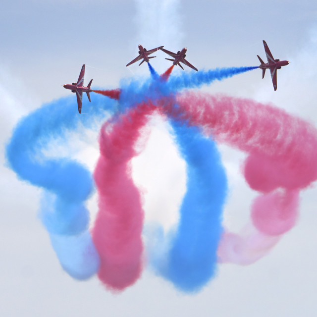 """RAF Red Arrows 'Detonator'"" stock image"