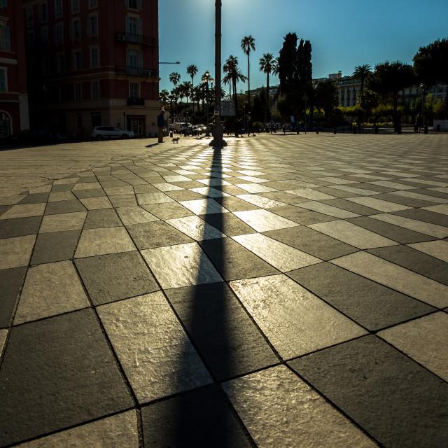 """Street light in Nice"" stock image"