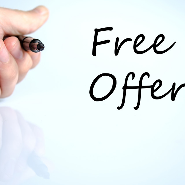 """Free offer text concept"" stock image"