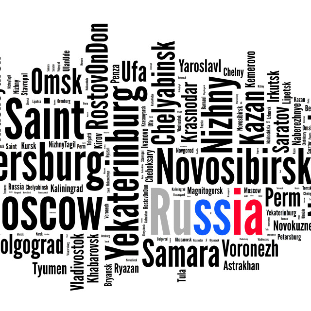 """Localities in Russia"" stock image"