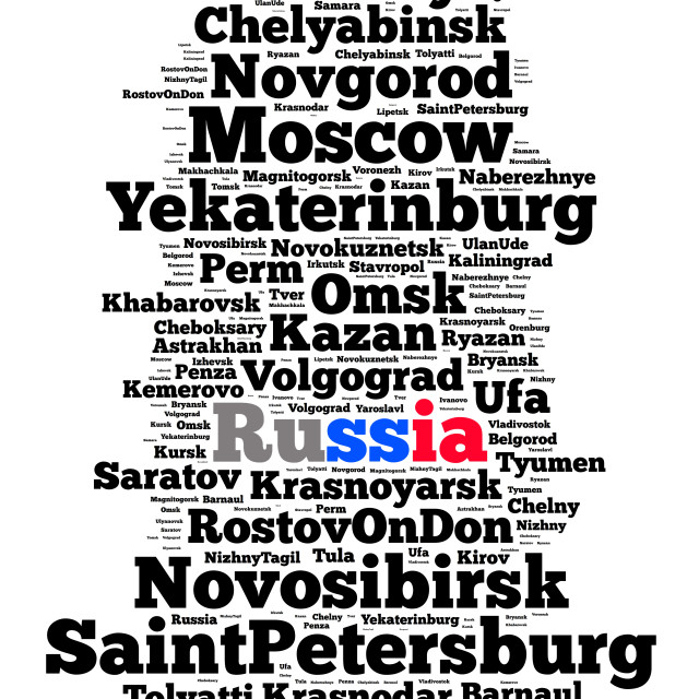 """""""Localities in Russia"""" stock image"""