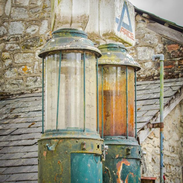 """vintage petrol pumps"" stock image"