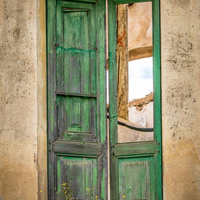 """""""Broken door"""" stock image"""