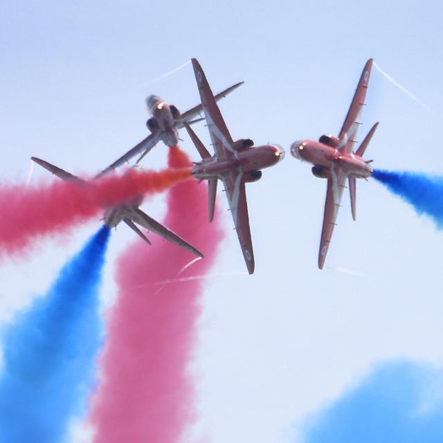 """RAF Red Arrows 'Gypo Break'"" stock image"
