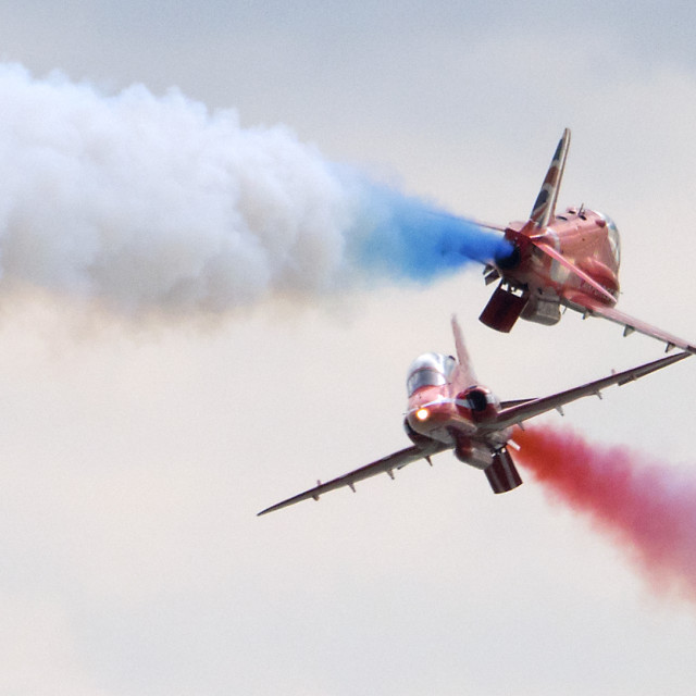 """""""RAF Red Arrows Synchro Pair"""" stock image"""