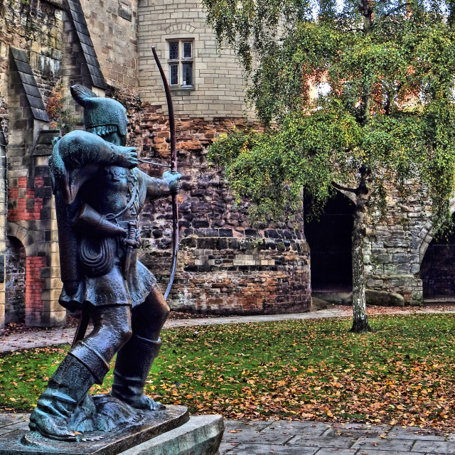 """Robin Hood Statue"" stock image"