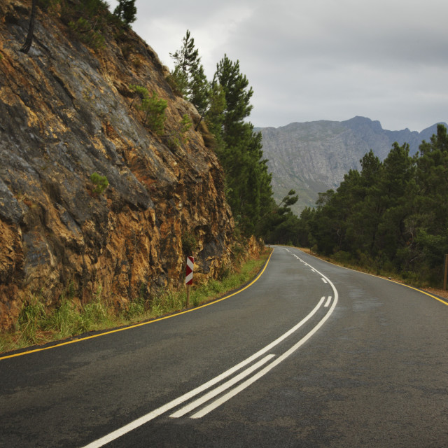 """""""Two Lane Road In The Mountains"""" stock image"""