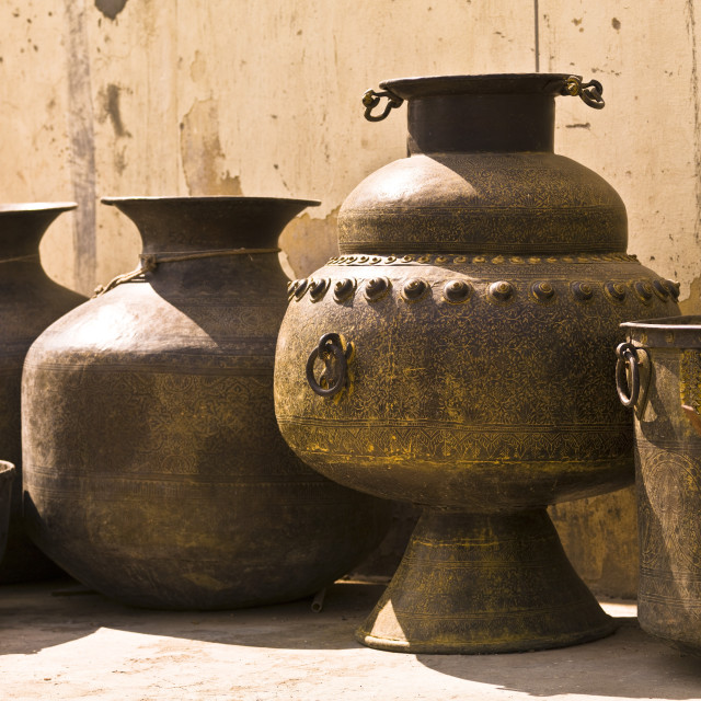 """Hand Crafted Jugs, Jaipur, India"" stock image"