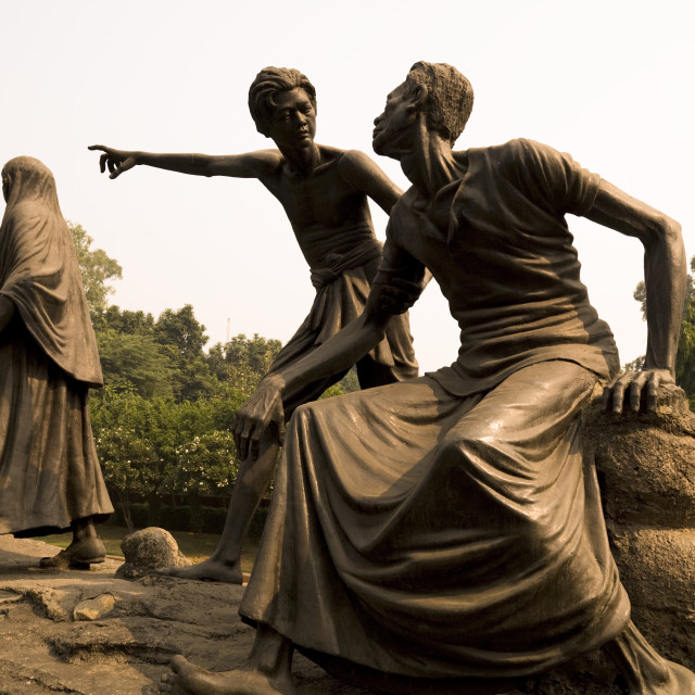 """Statues, Delhi, India"" stock image"