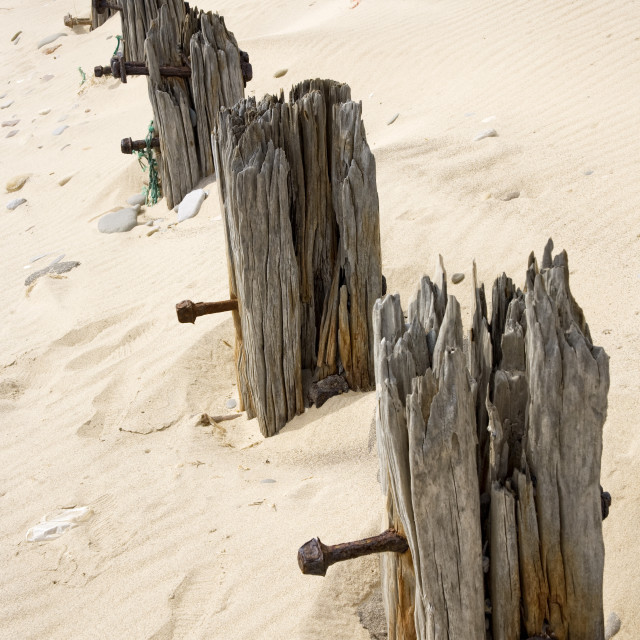 """""""Posts In Sand"""" stock image"""