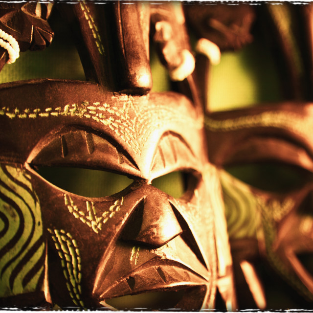 """African Masks"" stock image"