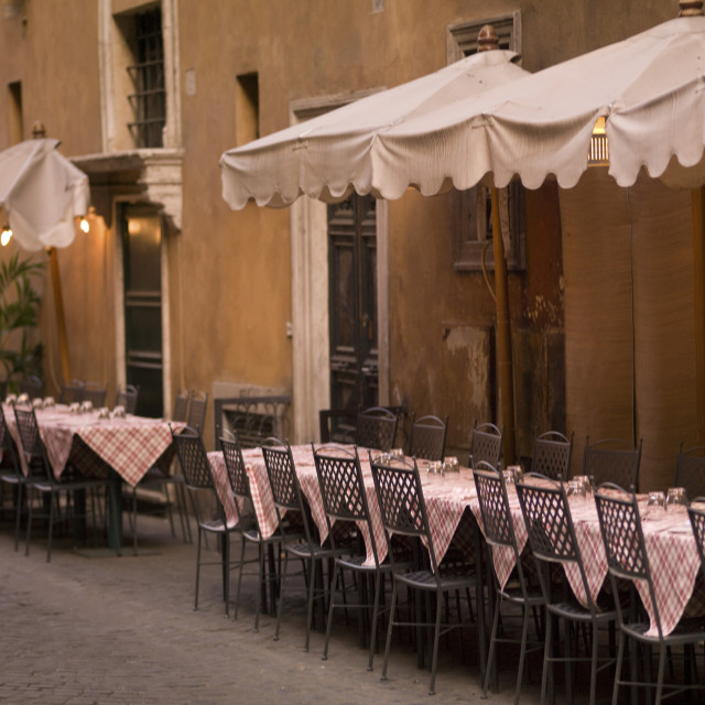 """Outdoor Patio, Rome, Italy"" stock image"