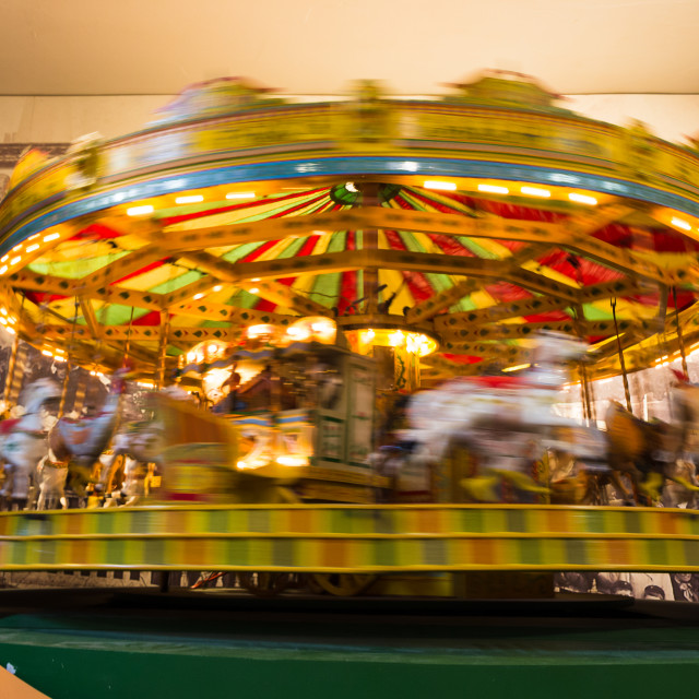 """""""Motion blurr on a fairground ride"""" stock image"""