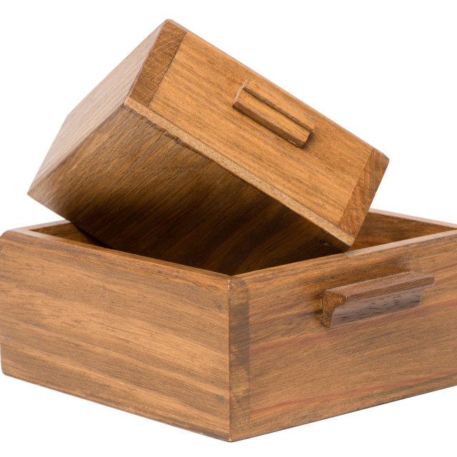 """Small wooden boxes"" stock image"