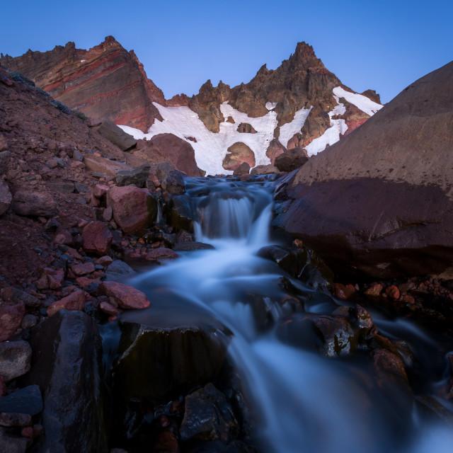 """Glacier Mountain Waterfall"" stock image"