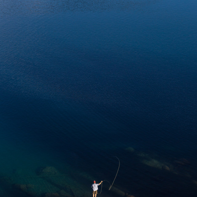 """Lake Fly Fishing"" stock image"