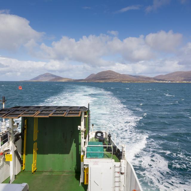 """Berneray to Harris and Lewis ferry, Scotland, United Kingdom, Europe"" stock image"