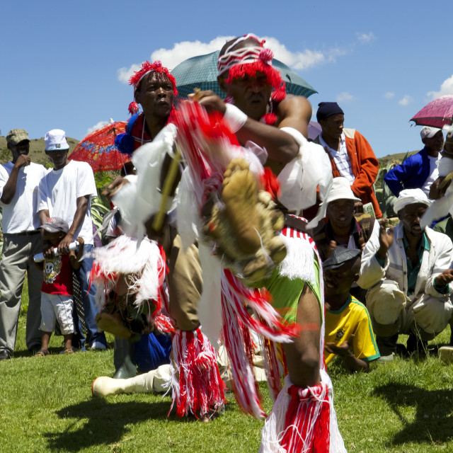"""""""Traditional dancers entertain the crowds at one of Send a Cow's passing on..."""" stock image"""