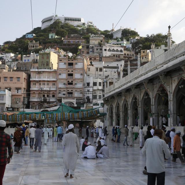 """Ajmer Sharif dargah, Rajasthan. Main mosque. India."" stock image"