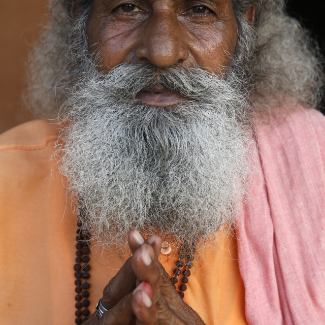 """Indian sadhu in Vrindavan, Uttar Pradesh. India."" stock image"