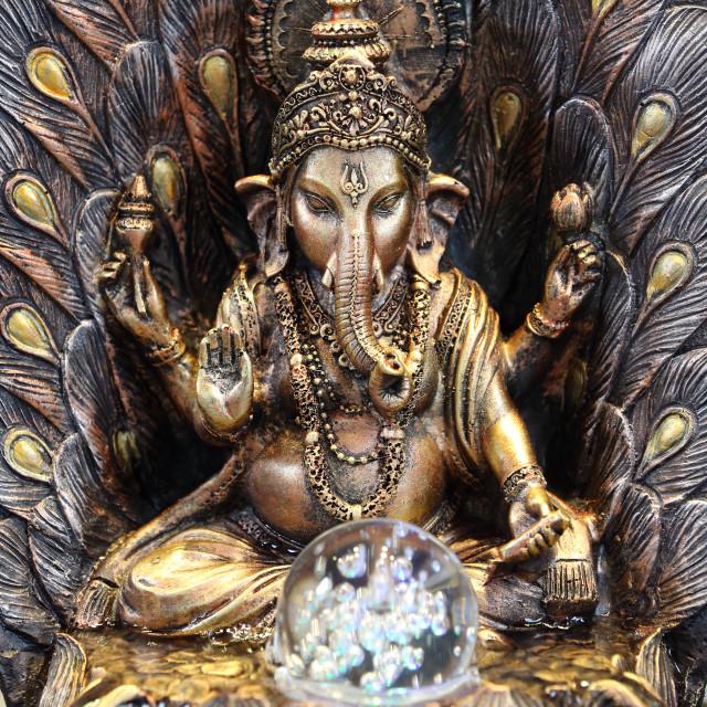 """Sri Mariamman Hindu temple. Ganesha. Singapore."" stock image"