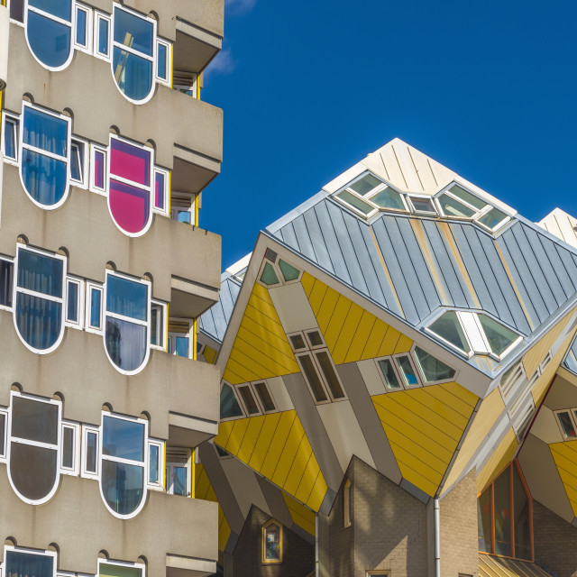 """Netherlands, South Holland, Rotterdam, Cube houses (or Pole Houses or Tree..."" stock image"