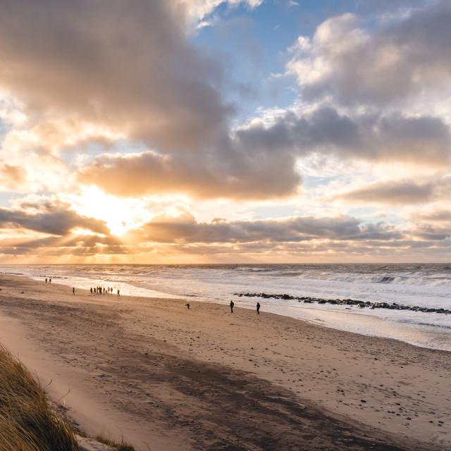 """Danish beach coastline"" stock image"