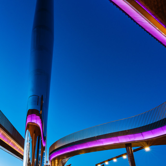 """""""The City bridge (Byens bro) in Odense, Denmark"""" stock image"""