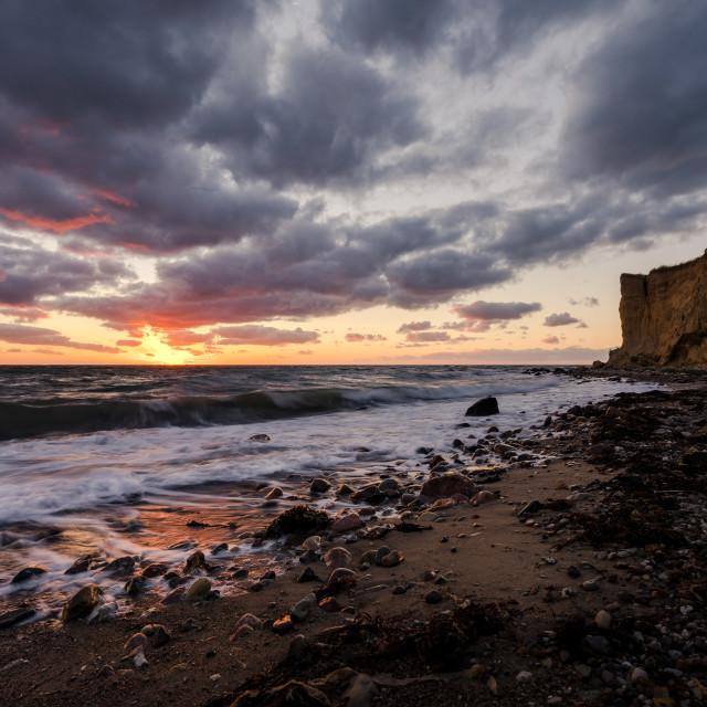 """""""Danish coastline during sunset"""" stock image"""