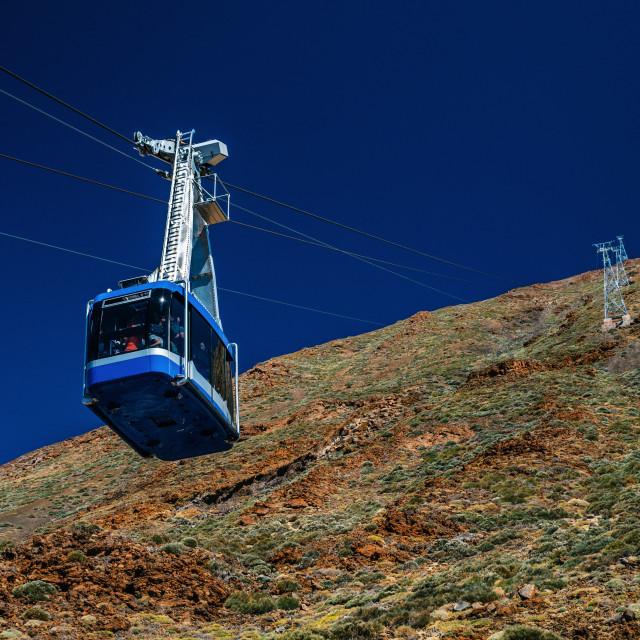 """Cable car to the volcano Teide in Tenerife"" stock image"