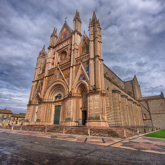 """Orvieto Cathedral (Duomo), Italy"" stock image"