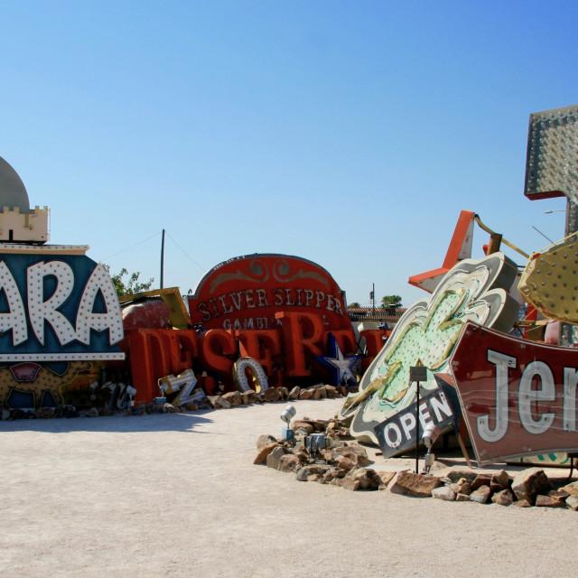 """""""Neon Boneyard Las Vegas"""" stock image"""